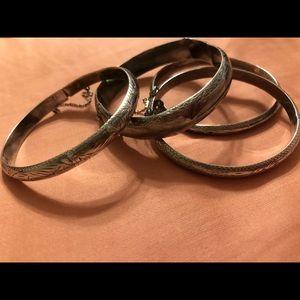 🌵FP Vintage Silver Navajo Indian Bracelet Set